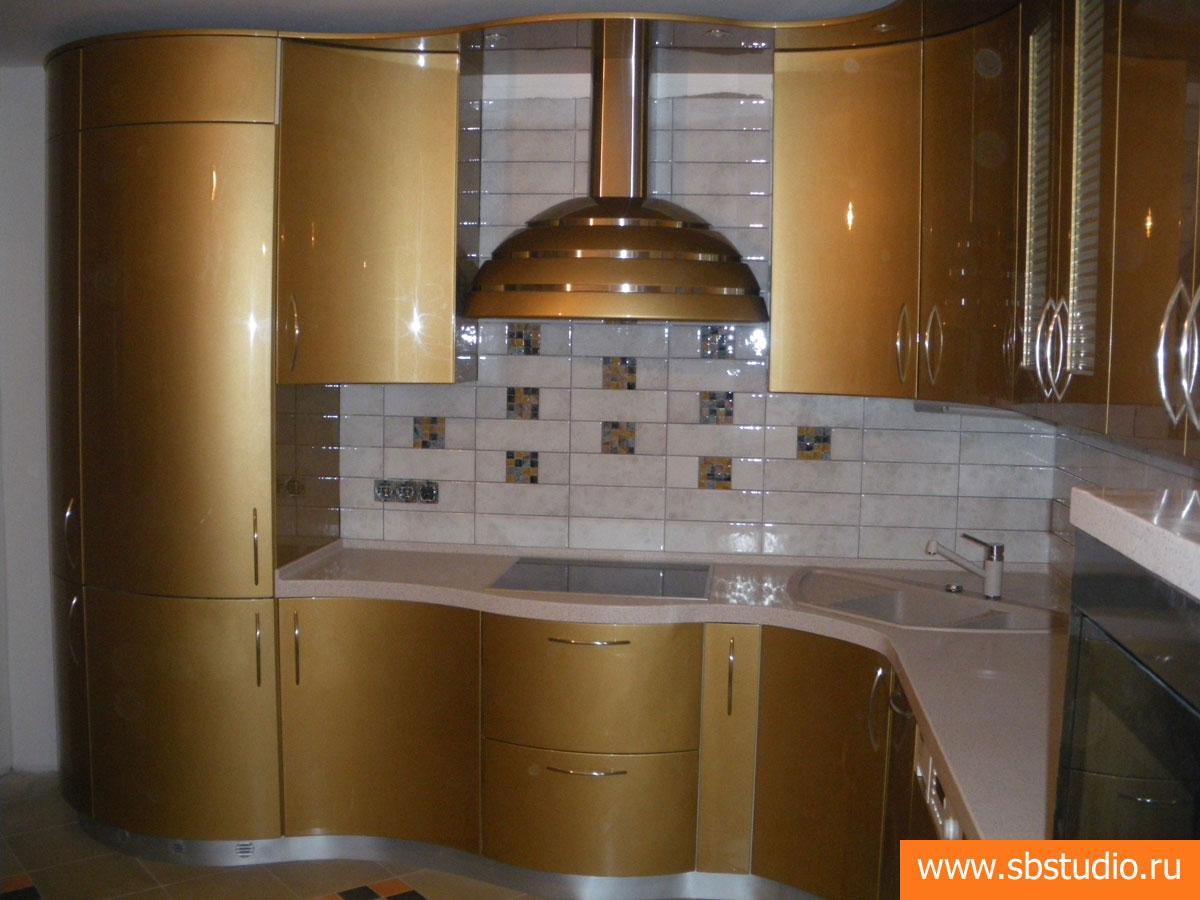 115Дизайн кухни полукругом фото