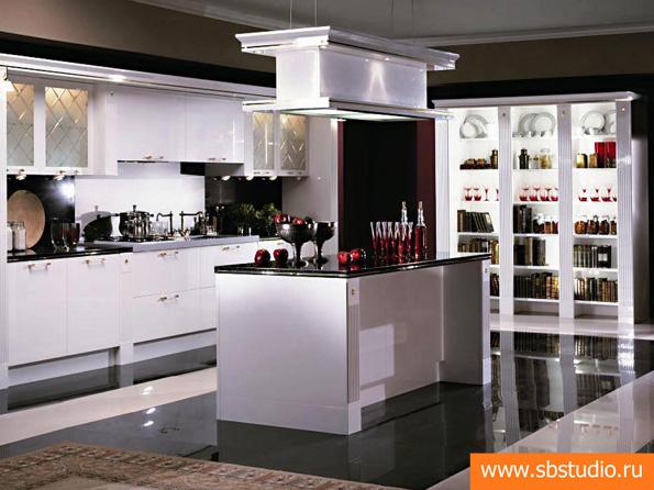 Дизайн кухонных гарнитуров с островом интерьер для зеленого кухонного гарнитура