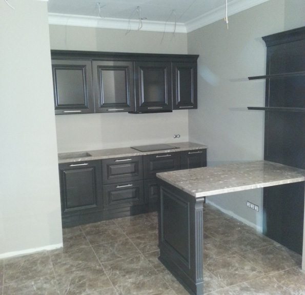 маленькая кухня прямая дизайн фото